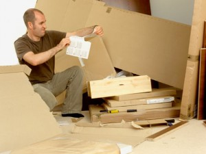 man with flatpack
